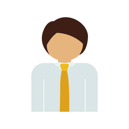 he is beautiful: half body man with suit and necktie vector illustration Illustration