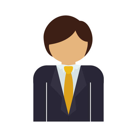 he is beautiful: half body man with formal suit and necktie vector illustration