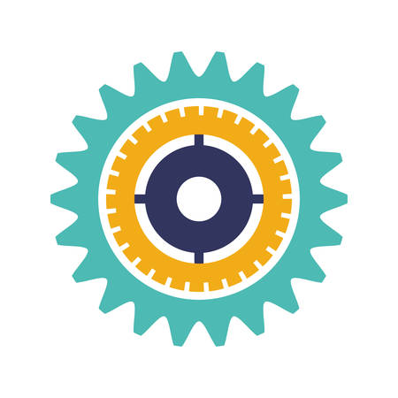 silhouette gear wheel with crown and pinion vector illustration Vektorové ilustrace