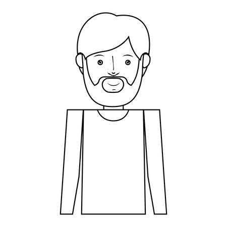 bearded man: bearded man with hipster style over white background. vector illustration Illustration