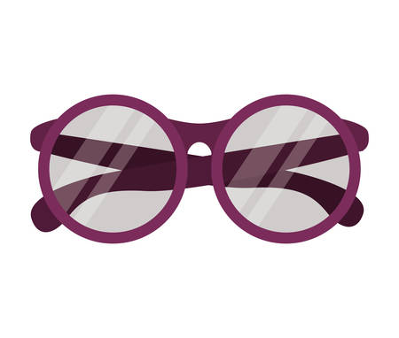 accesory: Glasses icon. Accesory fashion and optical theme. Colorful design. Vector illustration Illustration
