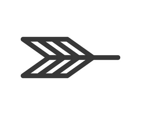 back arrow: silhouette with part back arrow vector illustration