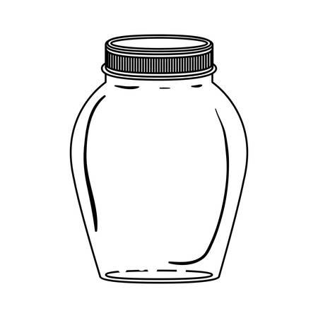 contenitore di vetro silhouette con coperchio illustrazione vettoriale