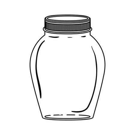 lid: silhouette glass container with lid vector illustration