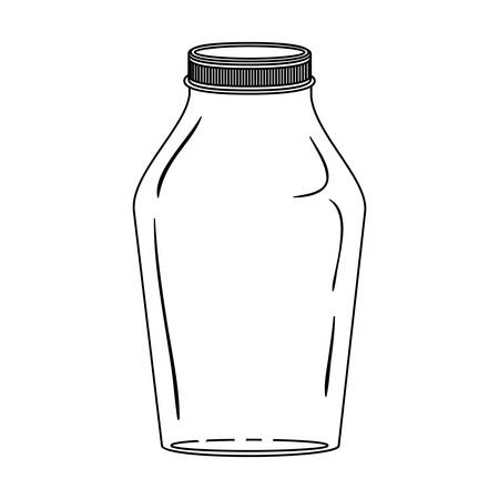 lid: silhouette glass jar with lid vector illustration