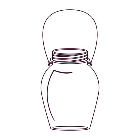hip flask: silhouette glass jar decorative with handle vector illustration