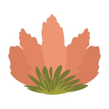 sepal: front view flower with sepal vector illustration
