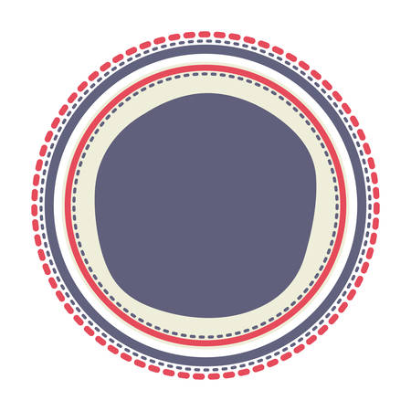 united stated: button with united stated of america flag colors. usa design. vector illustration