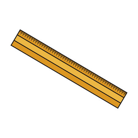 millimeter: Ruler tool icon. Draw write school and instrument theme. Colorful design. Vector illustration