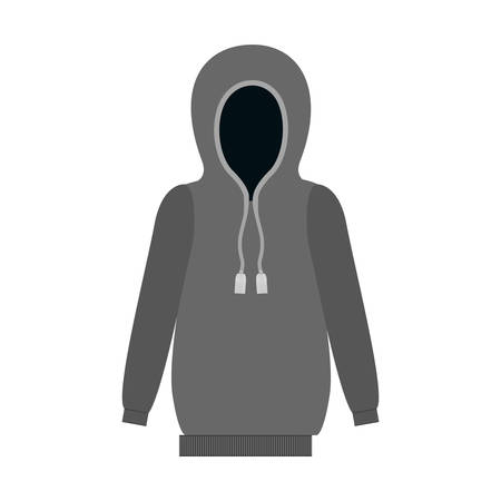 sweatshirt: gray sweatshirt icon over white background. winter clothes design. vector illustration Illustration