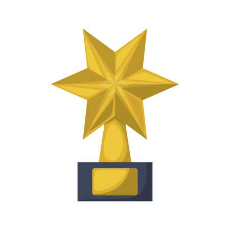 gold star award icon over white background. vector illustration