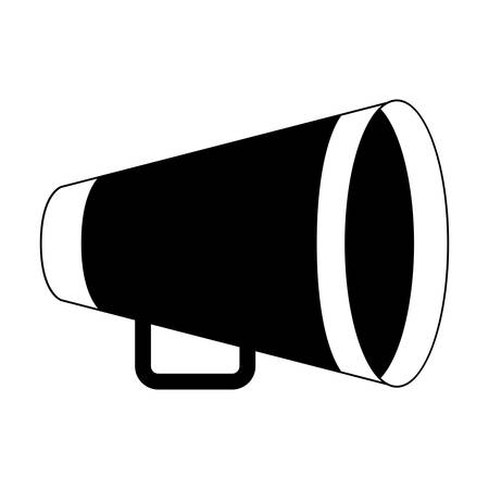 amplify: silhouette of yellow director megaphone icon over white background. cinema design. vector illustration