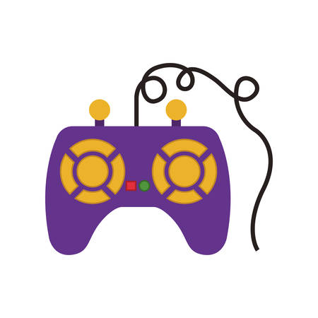 obsession: videogame control with buttons and joystick over white background. vector illustration Illustration