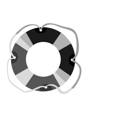 lifeguard float icon over white background. summer vacation design. vector illustration Illustration