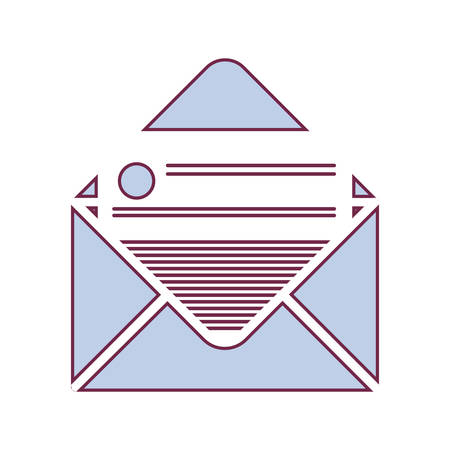 mail envelope icon with paper page over white background. vector illustration Illustration
