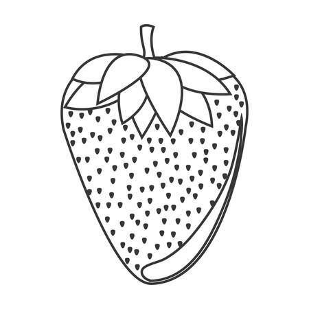 market gardening: silhouette of strawberry fruit icon. healthy food design. vector illustration