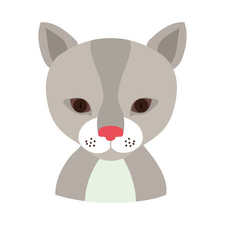 reserve: cat face animal cartoon icon over white background. colorful design. vector illustration