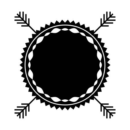 stamp seal: boho style seal stamp icon over white background. vector illustration