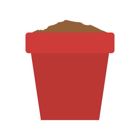 plant pot: plant pot icon over white background. vector illustration Illustration