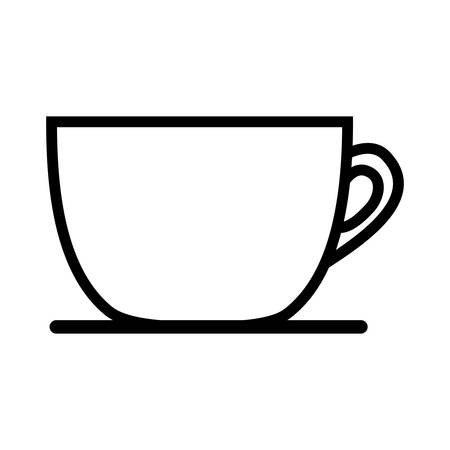 caffeine: silhouette of coffee mug icon over white background. caffeine drink. vector illustration
