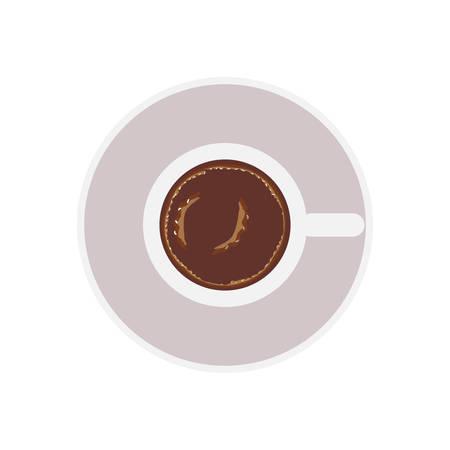 caffeine: coffee mug icon over white background. caffeine drink. top view. vector illustration