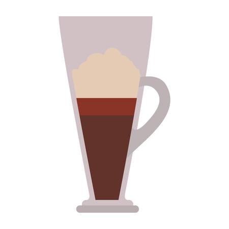 caffeine: coffee mug icon over white background. caffeine drink. vector illustration Illustration