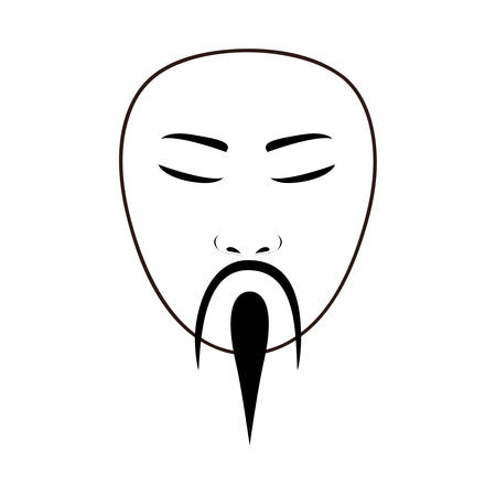 east asian traditional man icon image vector illustration design Illustration