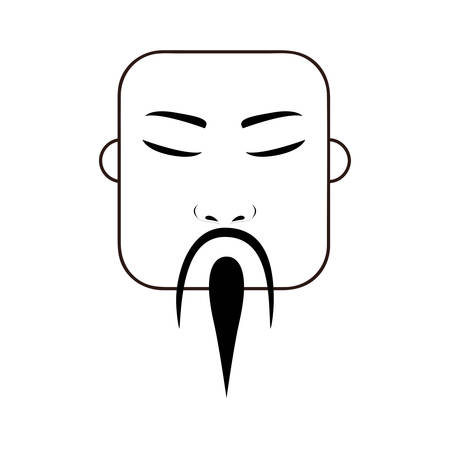 east asian traditional man icon image vector illustration design Illustration