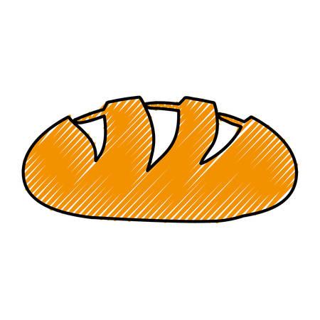 loaf: bread loaf icon image vector illustration design