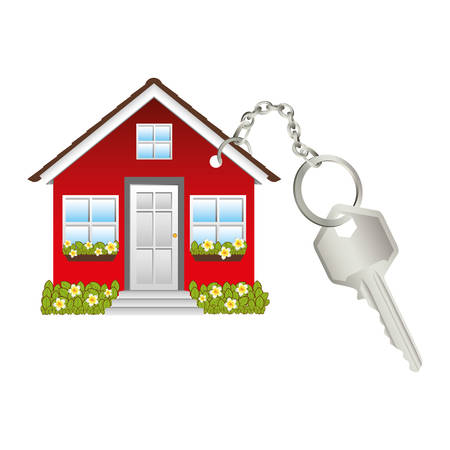 house or home keychain icon image vector illustration design