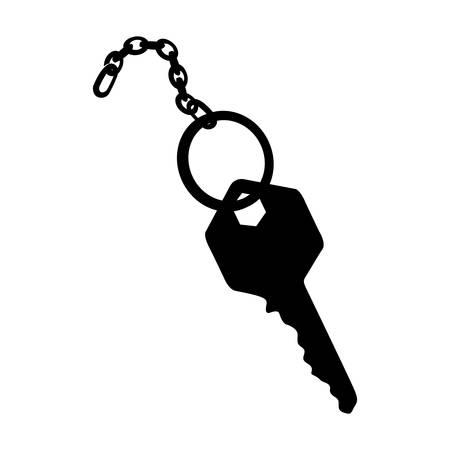 key and keychain icon image vector illustration design Illustration
