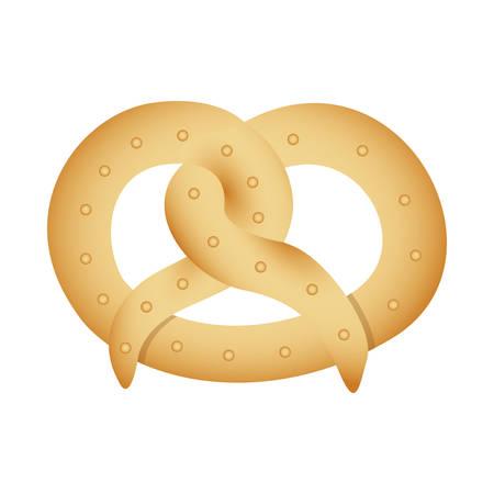 pretzel pastry icon image vector illustration design
