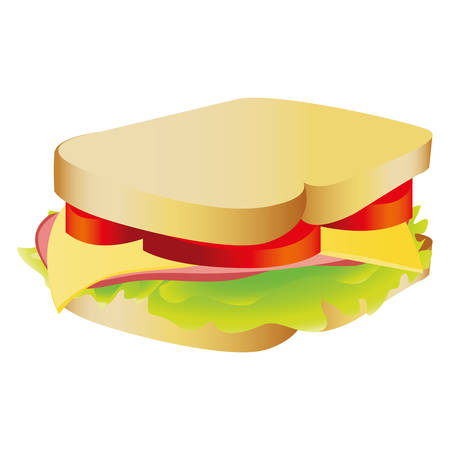 sandwich fast food icon image vector illustration design