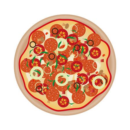 pizza comida rápida icono de la imagen ilustración vectorial diseño