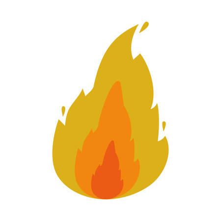 fire flame burning over white background. vector illustration
