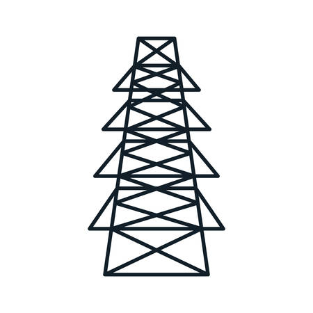 voltmeter: energy tower structure icon over white background. vector illustration