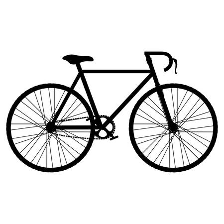 vitality: silhouette of bicycle vehicle icon over white background. bike lifestyle design. vector illustration