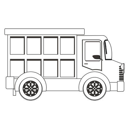 transporter: silhouette of cargo truck icon over white background. transportation vehicle design. vector illustration