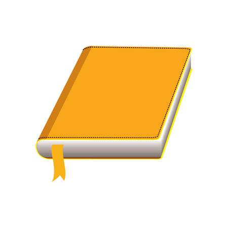 academic book over white background. colorful design. vector illustration Illustration