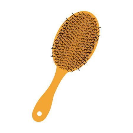 hair saloon: hair brush icon over white background .hair saloon design. vector illustration