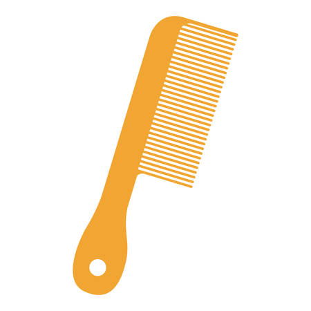 hair saloon: comb icon over white background .hair saloon design. vector illustration