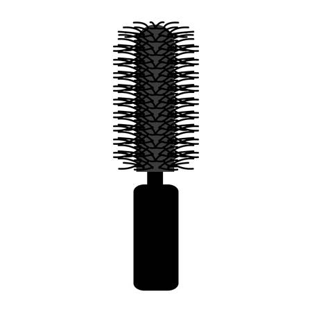 hair saloon: silhouette of hair brush icon over white background .hair saloon design. vector illustration Illustration
