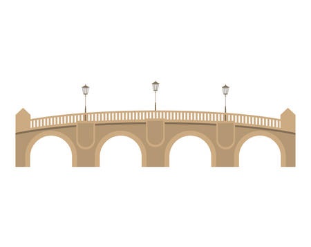 pont: pont neuf bridge over white background. paris city design. vector illustration