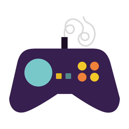 videogame control with navigation arrows and buttos over white background. vector illustration