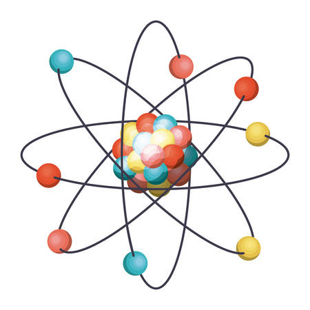 Atom icon. Chemistry science and nuclear theme. Isolated design. Vector illustration