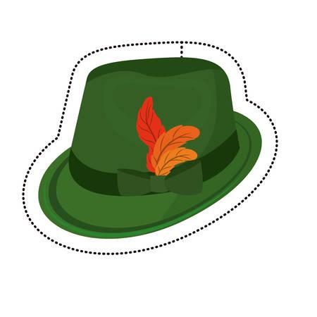 Hat icon. Oktoberfest germany culture festival and celebration theme. Isolated design. Vector illustration Illustration