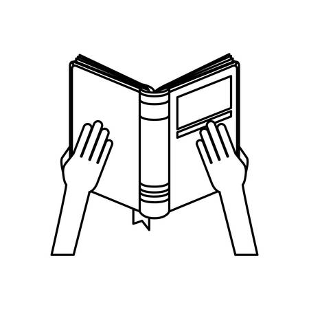Book icon. Education literature read and library theme. Isolated design. Vector illustration Illustration