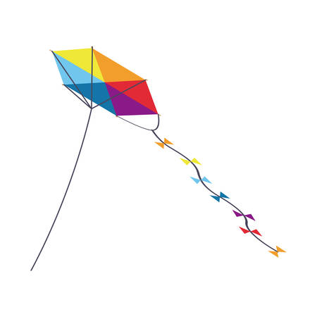 Kite icon. Toy game season wind and fun theme. Isolated design. Vector illustration Illustration