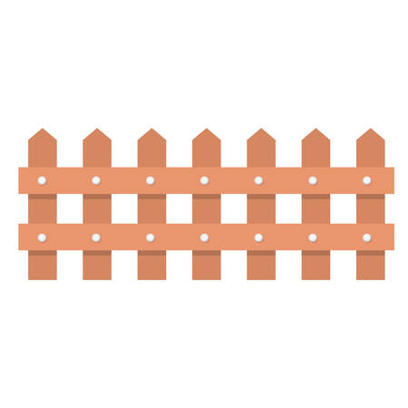 picket: Wood fence icon. Barrier picket and garden theme. Isolated design. Vector illustration Illustration