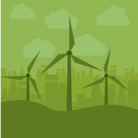 wind mill: Wind mill icon. Ecology renewable innovation and alternative theme. Vector illustration